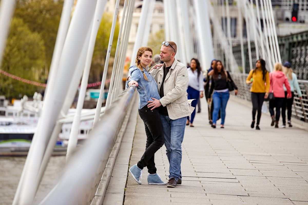 Engagement shoot at the Waterloo Bridge in London