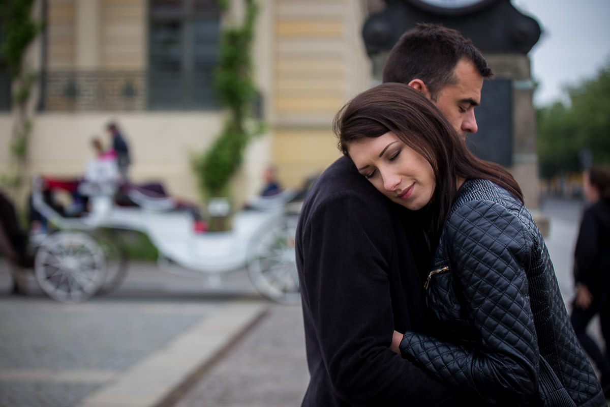 Edward giving hug to Monica in Berlin