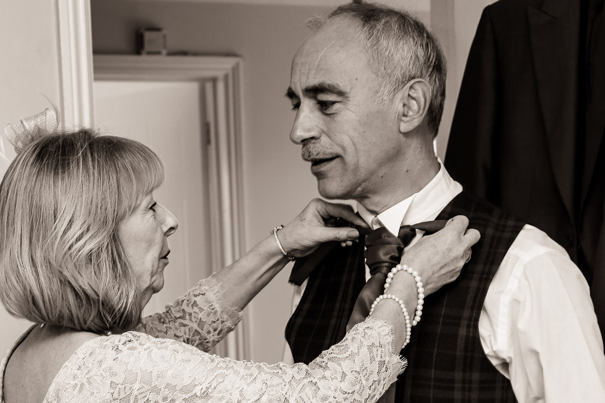 getting ready wroxeter hotel shropshire wedding photographer