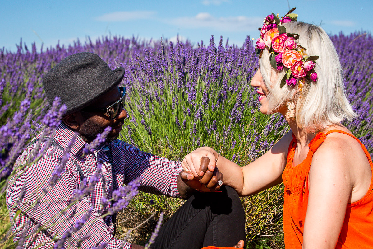 proposing at mayfield lavender field