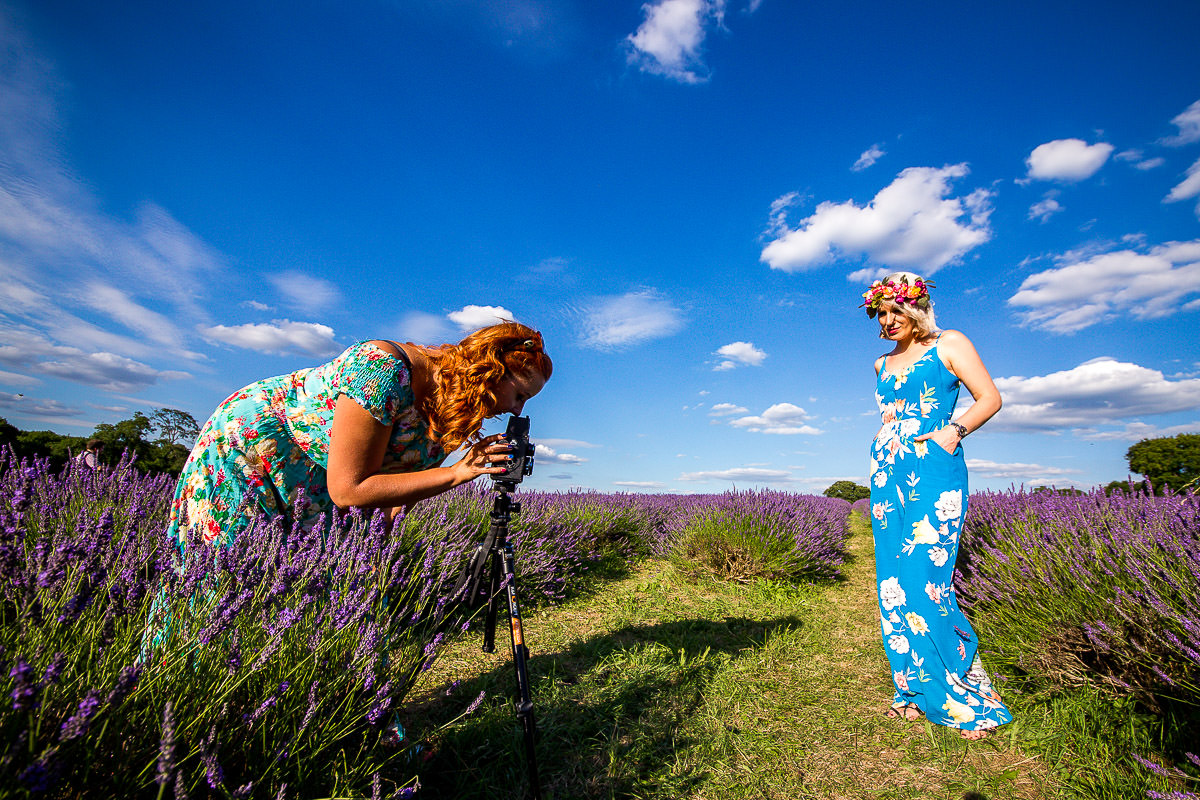 lavender field wedding photographer