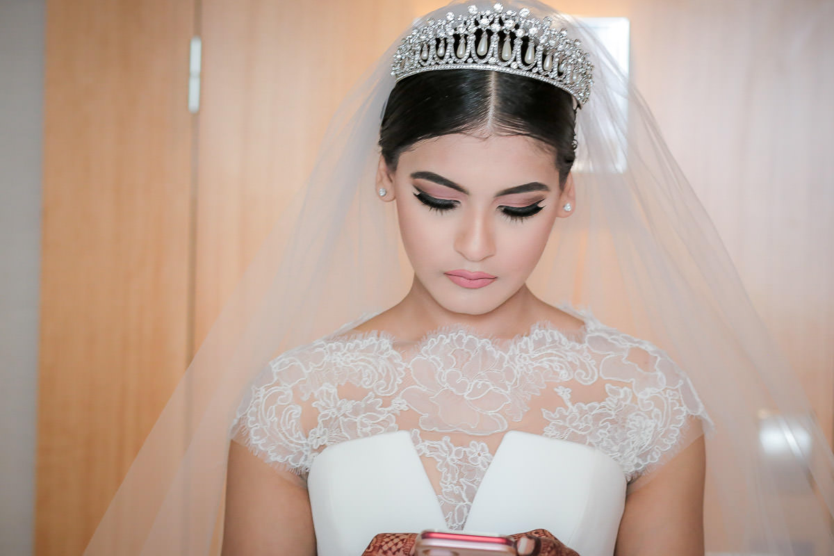 bridal portrait at conrad hotel st. james london
