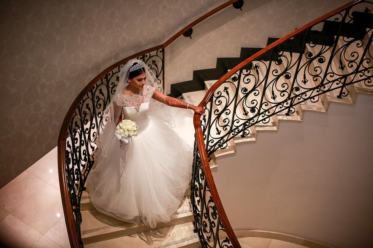 beautiful bride hajira at conrad hotel london