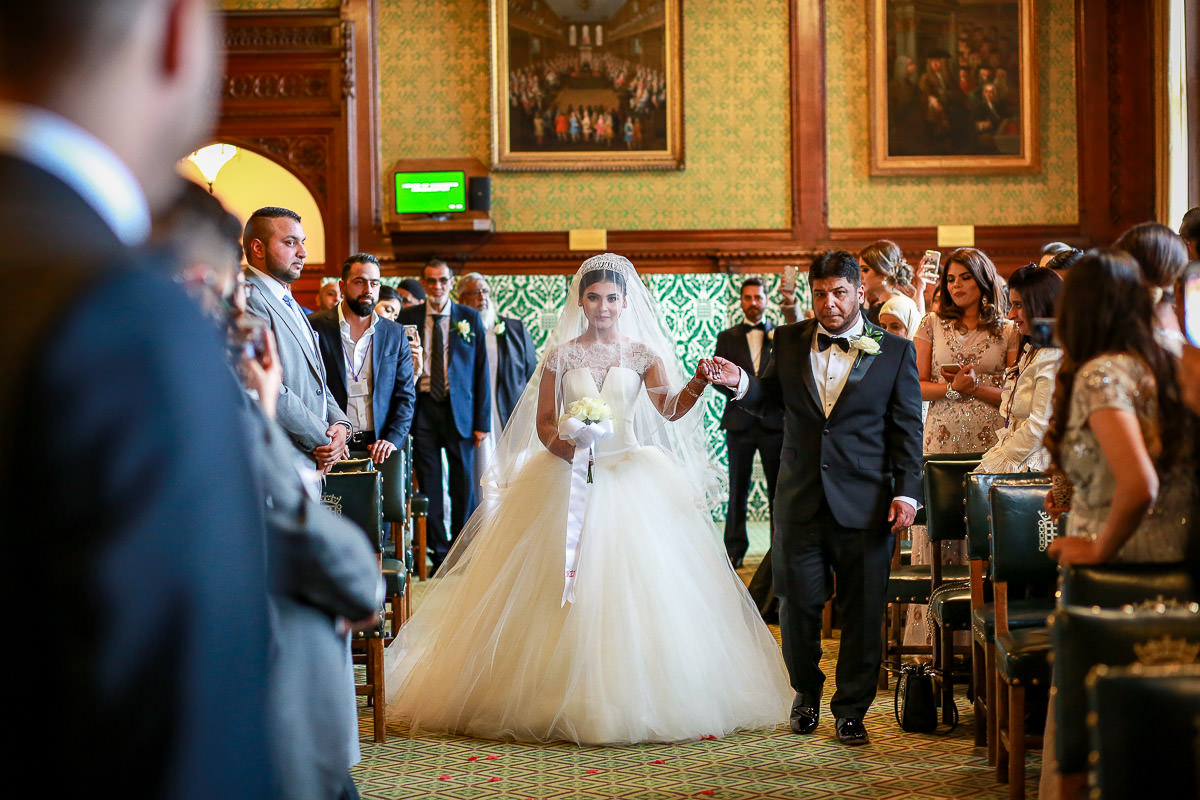 walking down the aisle at house of commons