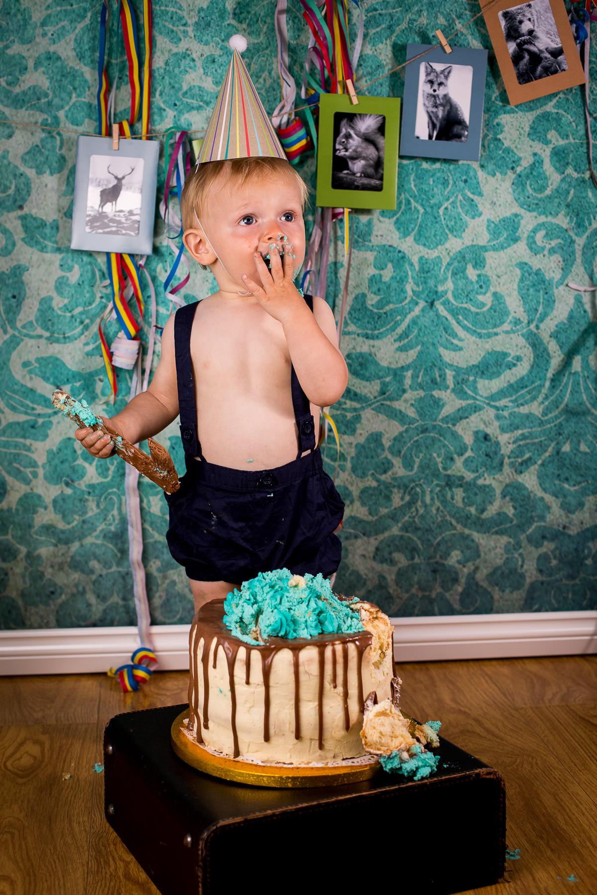 Harrisons 1st Birthday Cake Smash Shoot Surrey Wedding Photographers