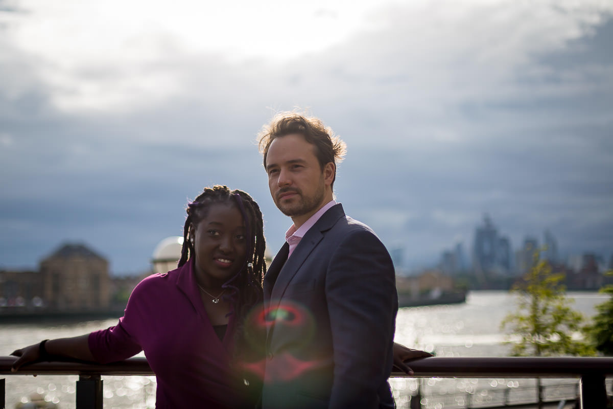 canary wharf love couple session