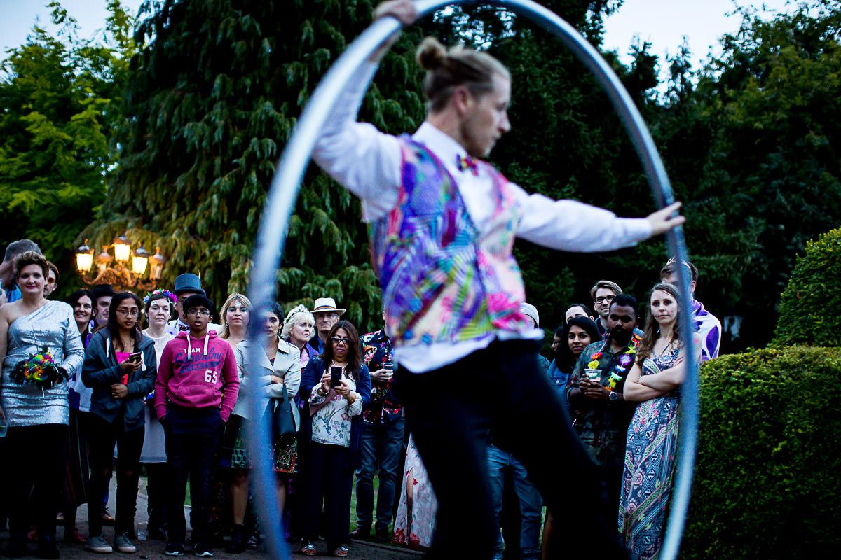 stilt walker fire juggler
