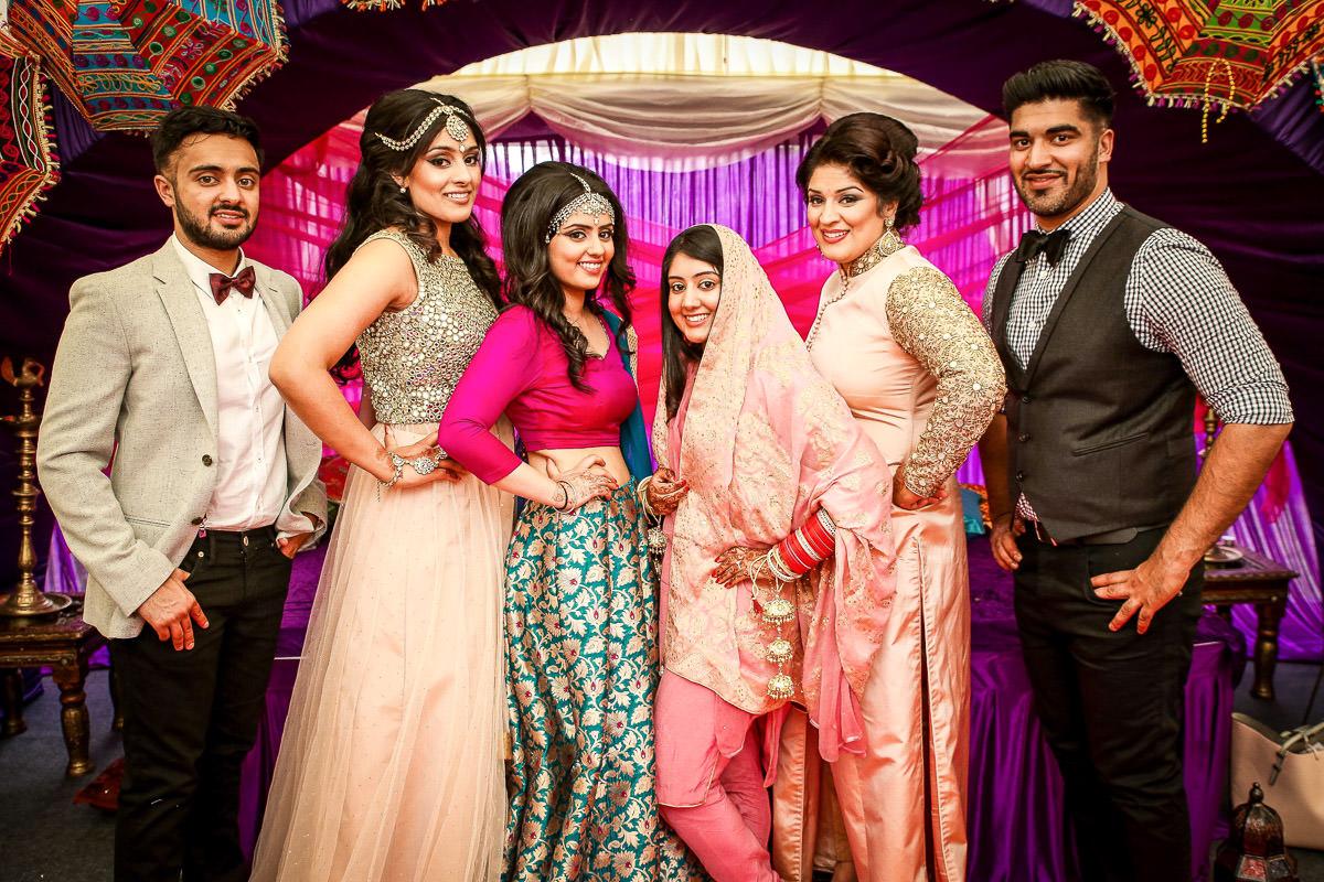 group shots at weddings