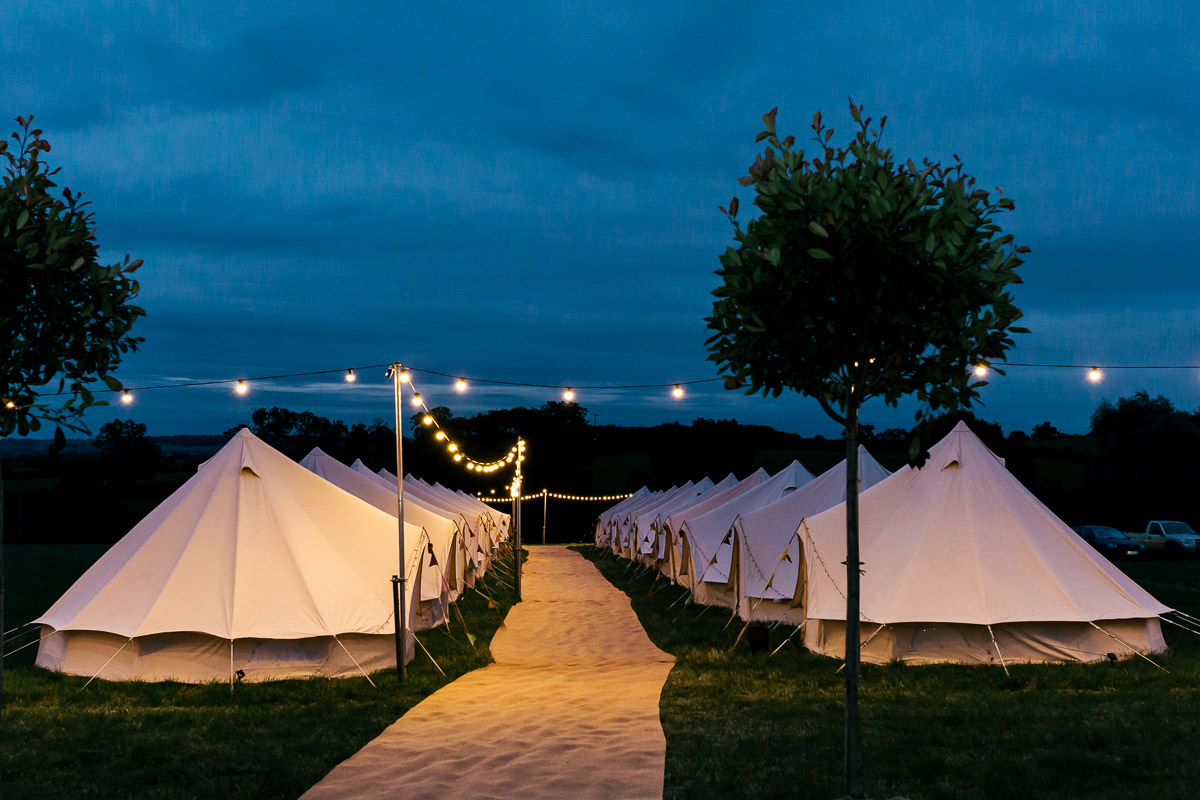 surrey bell tents wedding