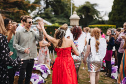 back garden diy wedding london