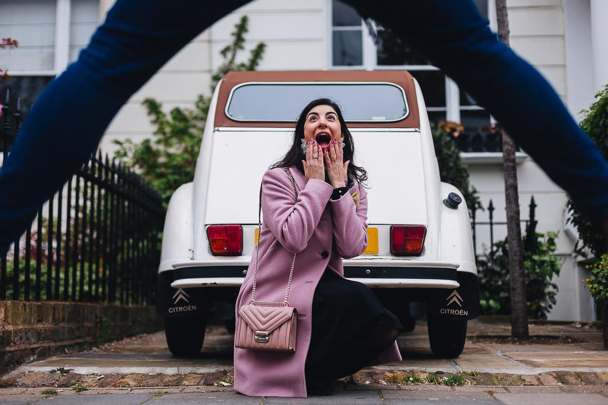 portobello market engagement photographer london