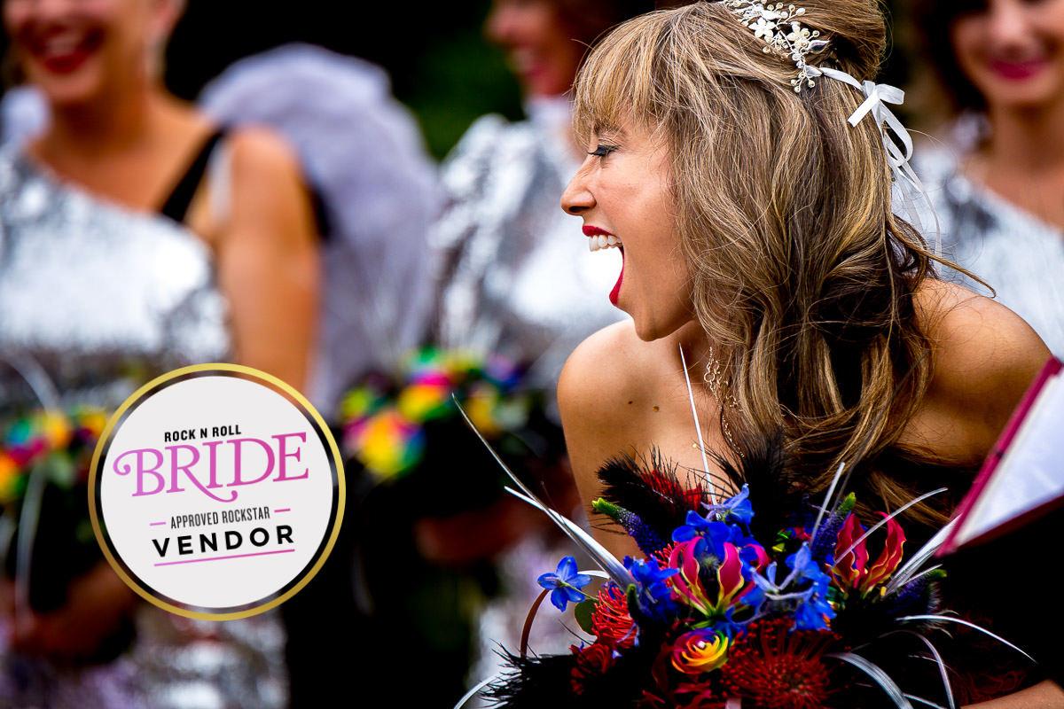rocknroll bride featured wedding photographer london