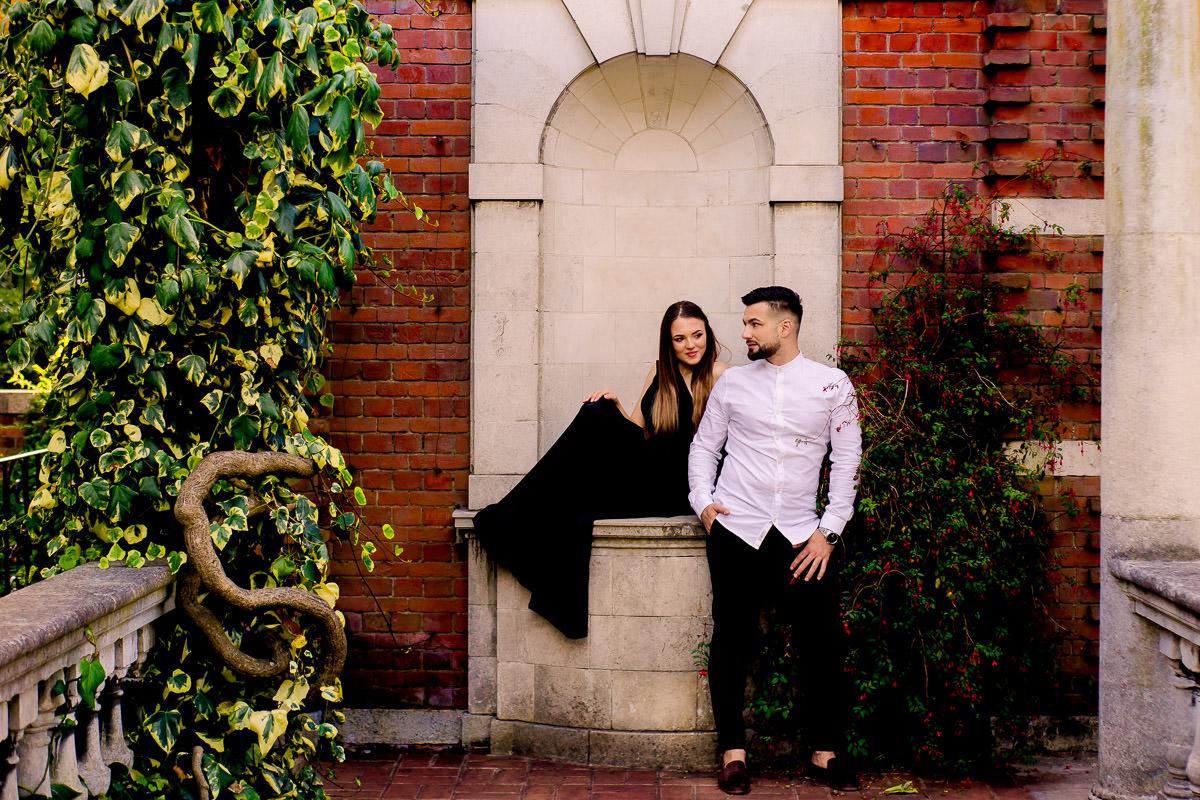 Hampstead Pergola engagement photography