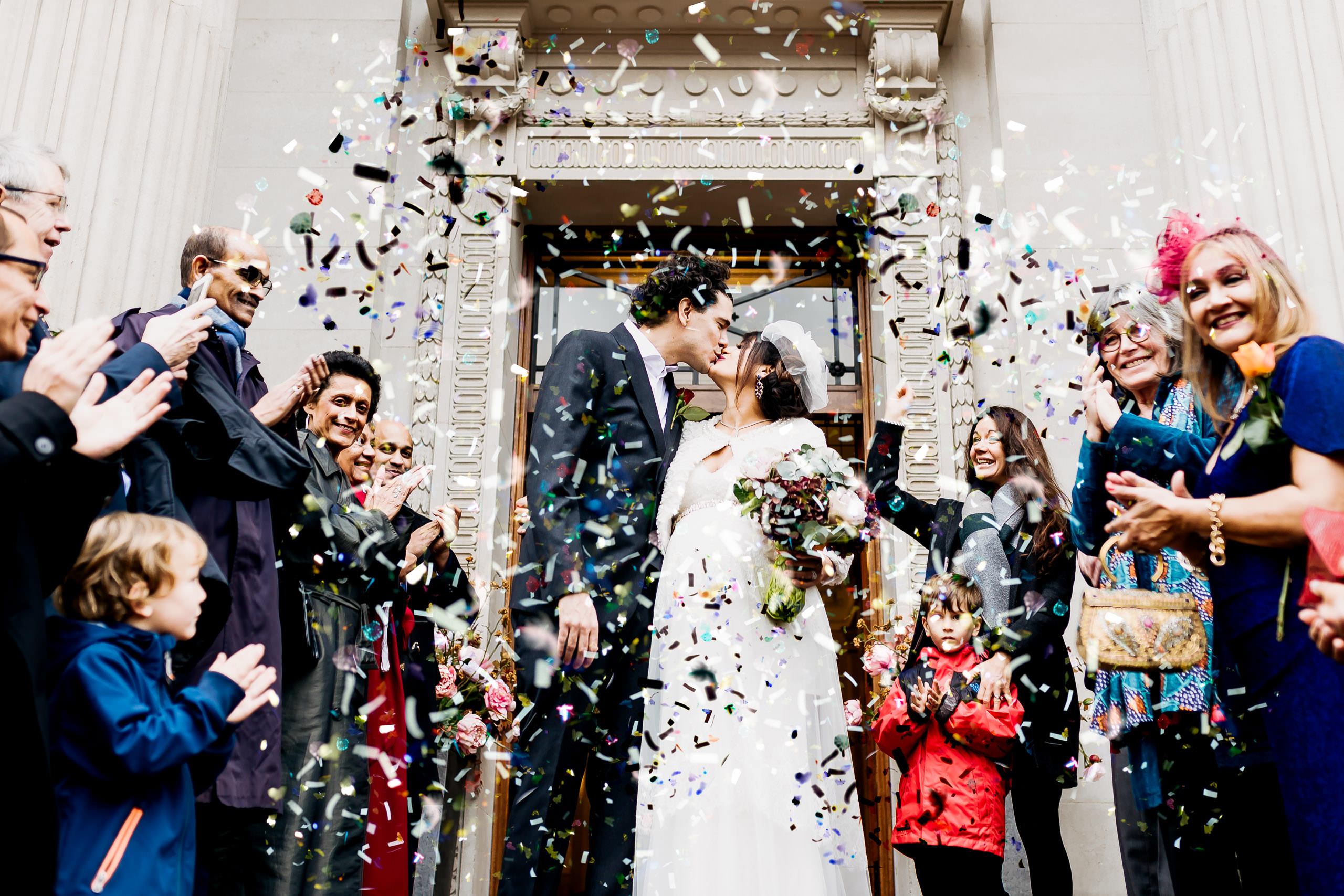 couple just got married at the old marylebone town hall