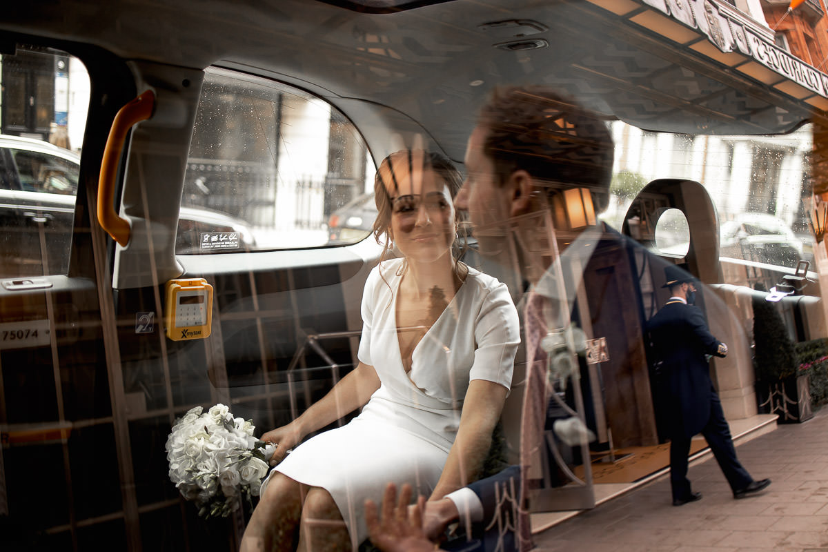 london black taxi wedding photography