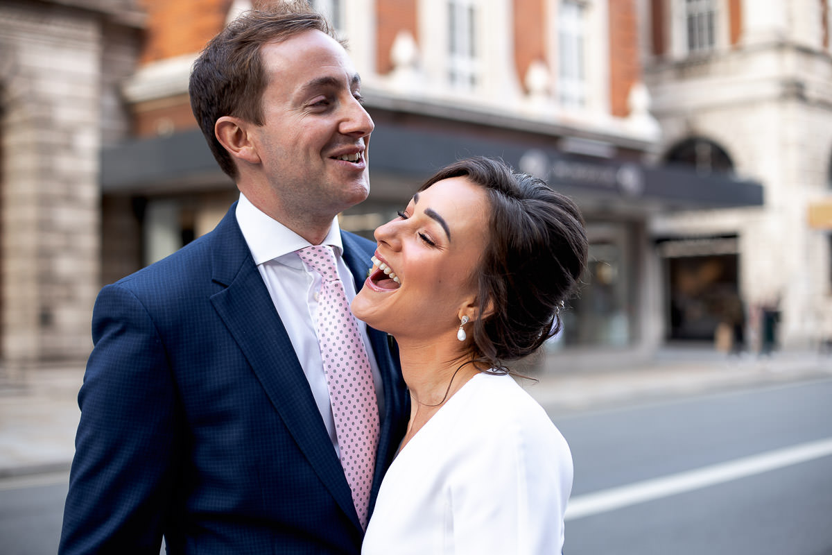 bride and groom wedding portraits at piccadilly