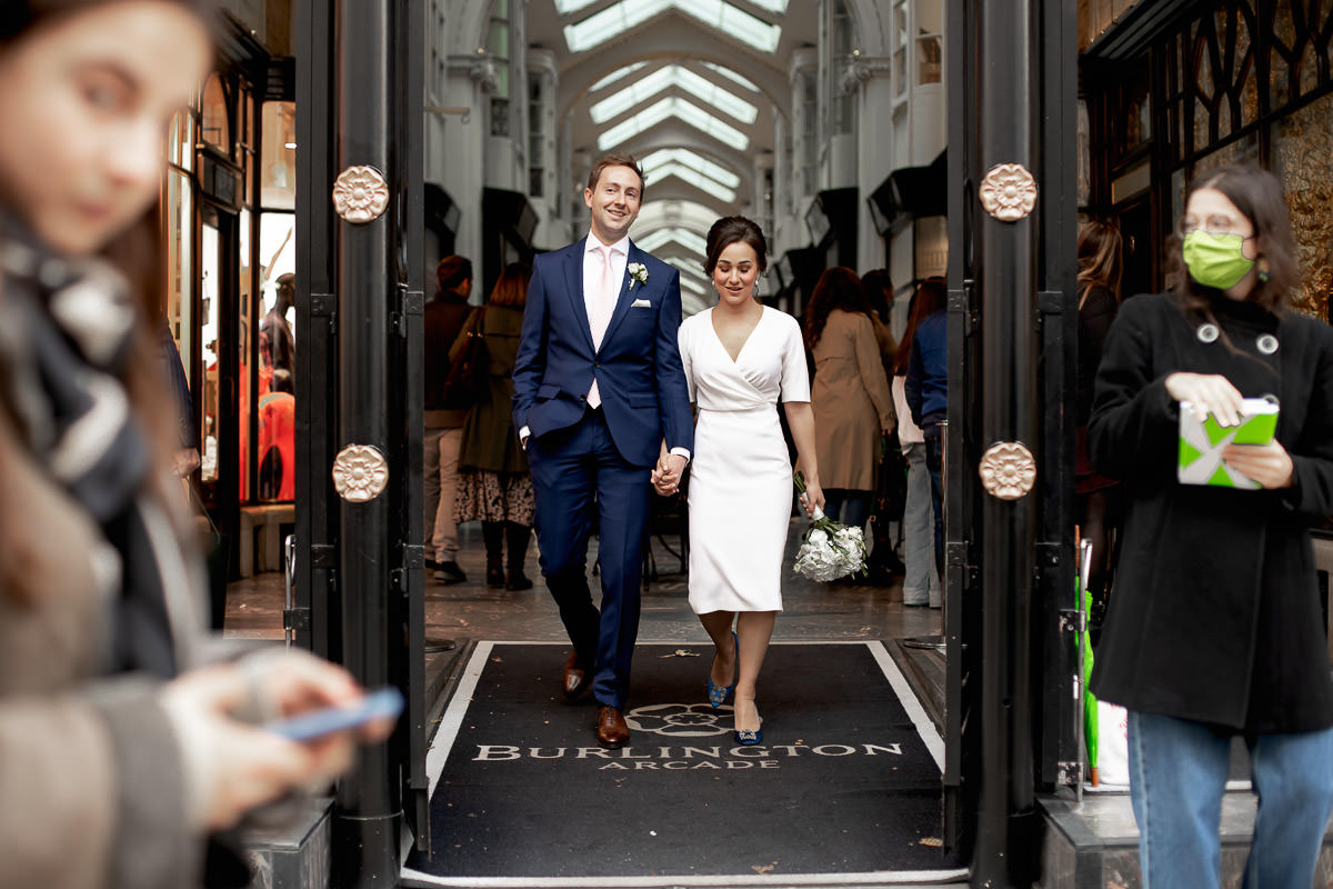 wedding session at burlington arcade