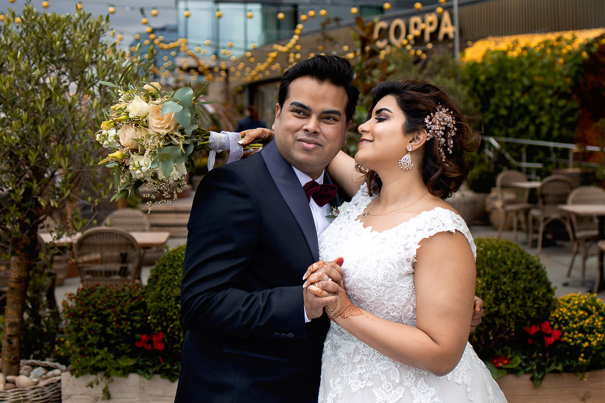 andaz hotel london wedding photographer