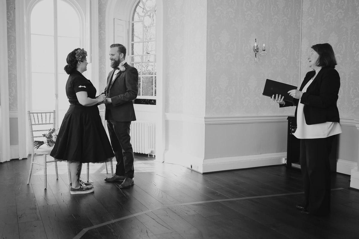 morden hall wedding ceremony